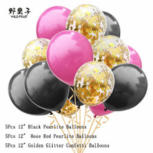 15pcs/hot 12inch latex balloon children happy birthday wedding party decration air ballon confetti  Balloon Pearlite