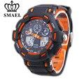 Smael marca horas reloj digital reloj de cuarzo relogio masculino relojes para hombre de los hombres del deporte militar hombres relojes casuales