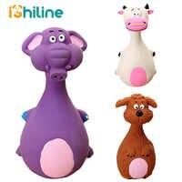 1PC Lustige Gummi Hund Spielzeug Latex Chew Squeaker Squeaky Sound Spielen Spielzeug Tier Form Pet Welpen Hund Spielzeug