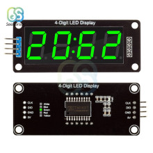 "TM1637 Digitale Klok Dubbele Dots Module 4-Digit LED Display 0.56 ""0.56 Inch Led Klok 7 Segmenten Buis module Groene Display(China)"