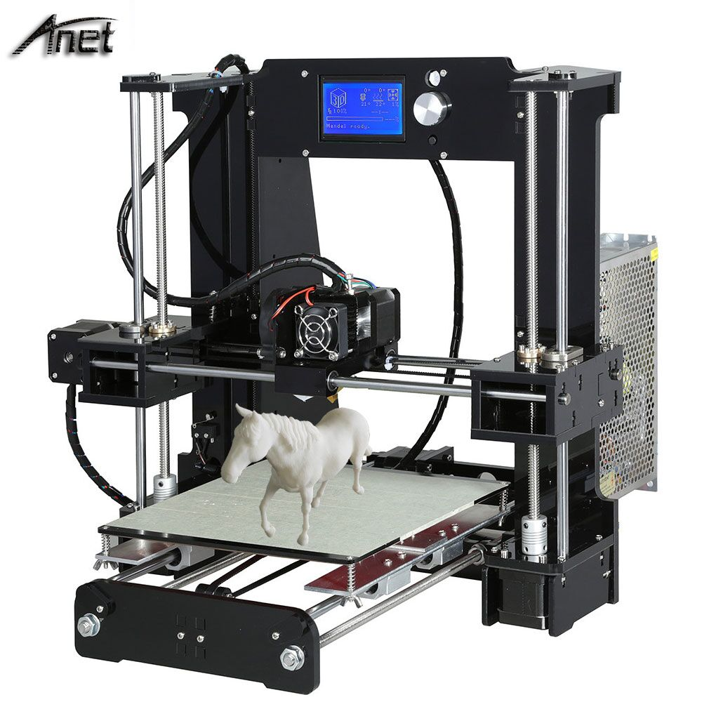 Anet A6/A8 3d printer Reprap Prusa i3 DIY 3D Printer Kit with10M/1Roll Filament SD Card Video LCD Screen Tools For free