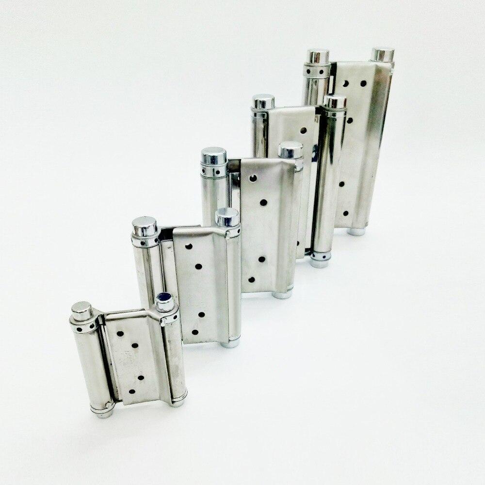2pcs Stainless steel door hinge gate hinge door fittings two sides open hinge Spring hinge 92mm/119mm/144.5mm/170mm/192mm2pcs Stainless steel door hinge gate hinge door fittings two sides open hinge Spring hinge 92mm/119mm/144.5mm/170mm/192mm