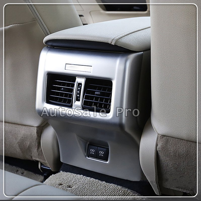 NEW For TOYOTA CAMRY 2018 Accessories Interior Car-styling ABS Matte Rear Armrest Air Vent Decoration Cover