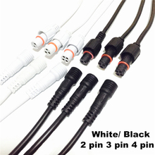 40cm 2 pairs/lot Waterproof Connector Cables 2/3/4 pins With