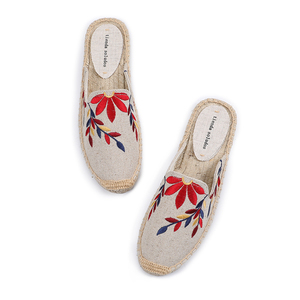 Image 5 - Tienda Soludos Slippers Women New Arrival Hemp Rubber Cotton Fabric Mixed Colors Summer Pantufas Zapatos De Mujer Slides