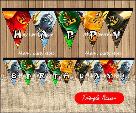 Ninjago Banner Baby Shower Ninjago Birthday Party Decorations Kids