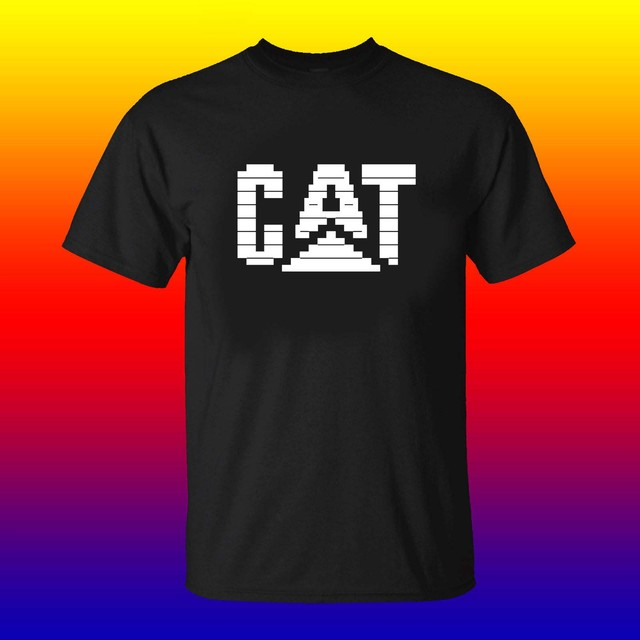US $11 99 25% OFF|Caterpillar Logo Copy Paste ASCII Text Art CAT Logo T  shirt Funny Clothing Casual Short Sleeve Tshirts-in T-Shirts from Men's