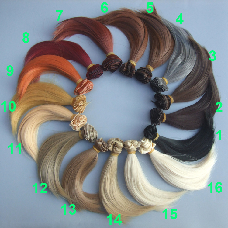15cm high temperature heat resistant font b doll b font hair for 1 3 1 4