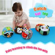 High Quality Baby Rattles Toys Infant Appease Ball Soft Odorless Monkey Cat lion