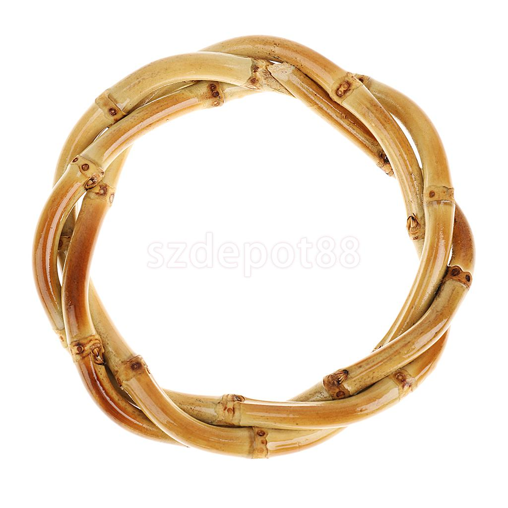 Handmade Retro Vintage Style Fashion Bamboo Root Braided Bracelet Natural Bangle Unisex Novelty Natural Wristband Accessories