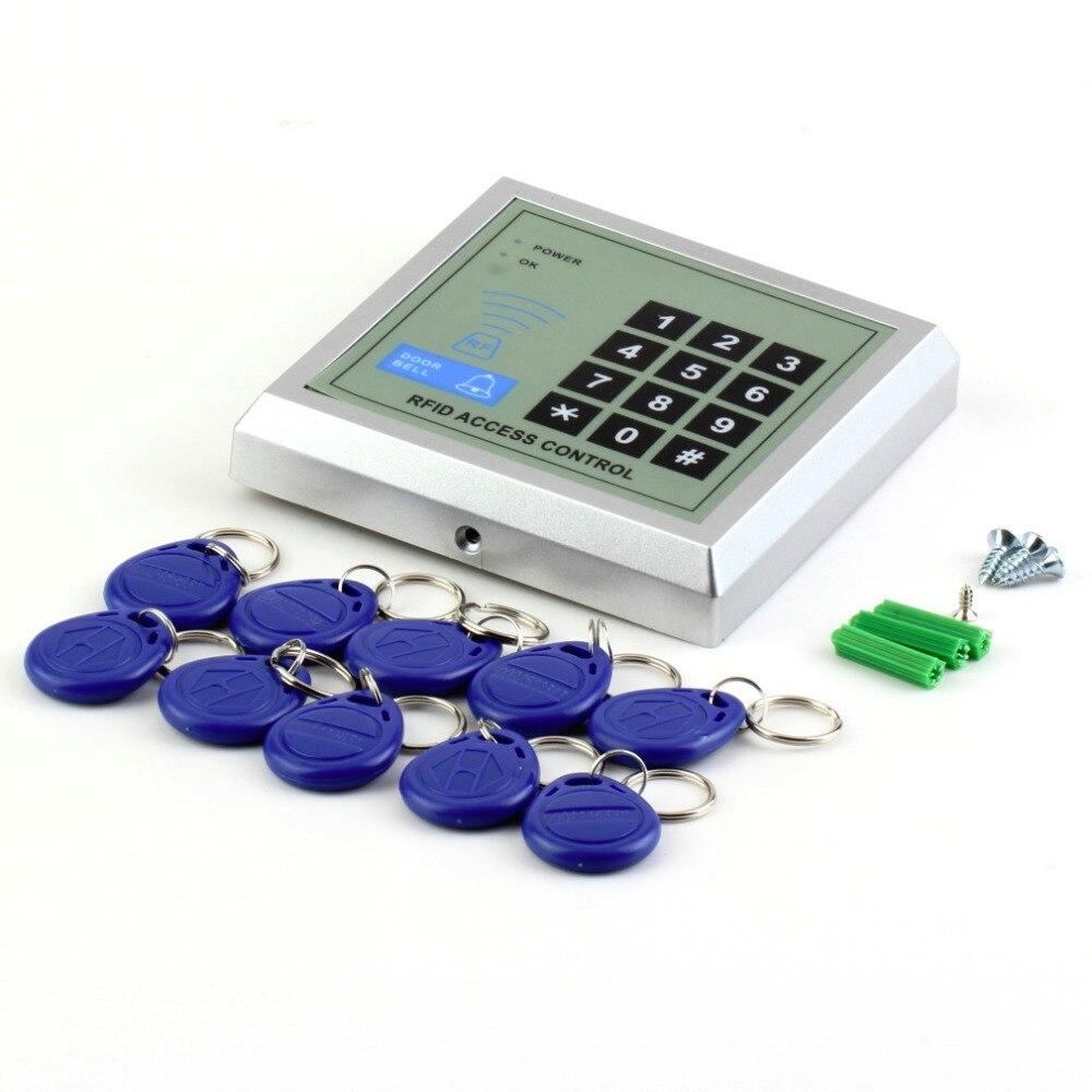 1 Unidades seguridad electrónica RFID proximidad entrada puerta cerradura Control DE ACCESO sistema 10 llaveros búsqueda caliente