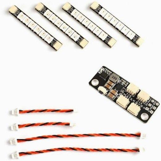 Matek system 2812 светодиодный пульт управления 2-6 S светодиодный модуль управления с 5 V BEC 2812 светодиодный пульт управления и 2812ARM-4 свет 2812ARM-6 светодиодный - Цвет: 6linght and board