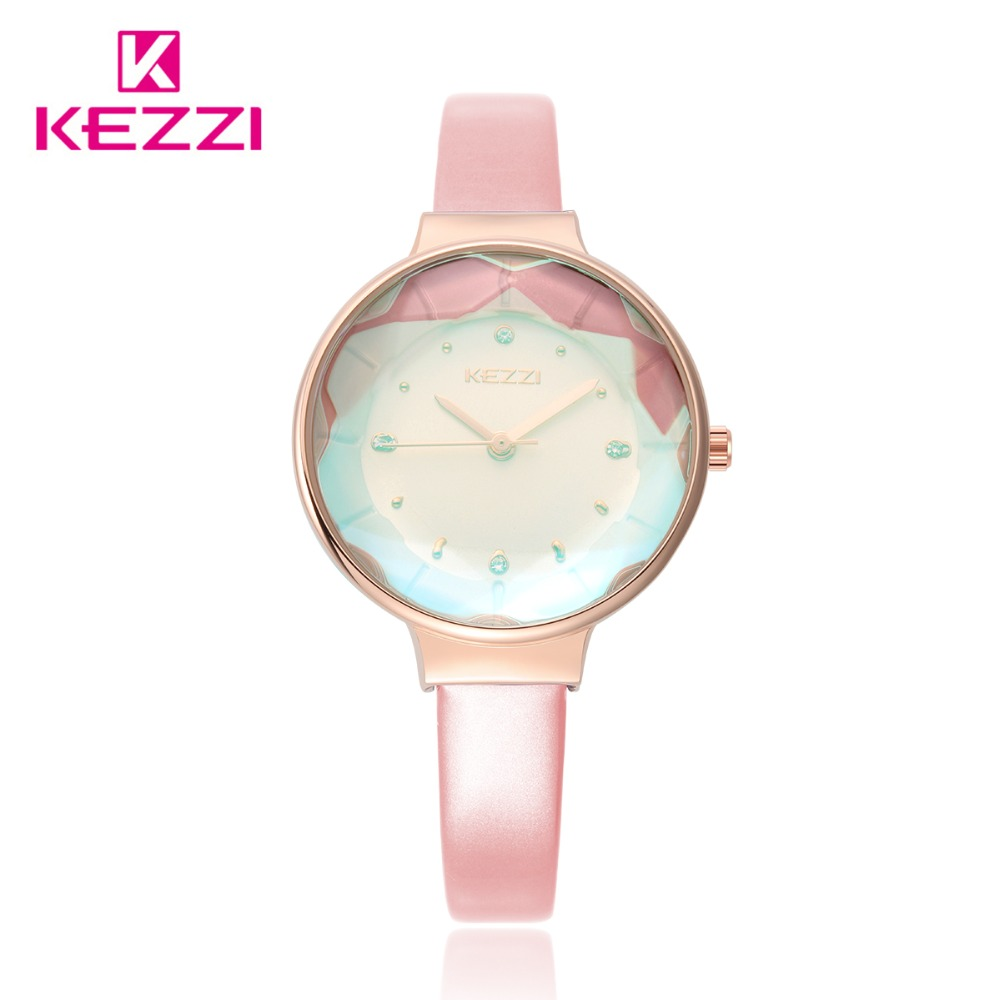 KEZZI Fine Belt Crystal Glass Simple and lovely Watches dames 'Daily - Dameshorloges - Foto 4