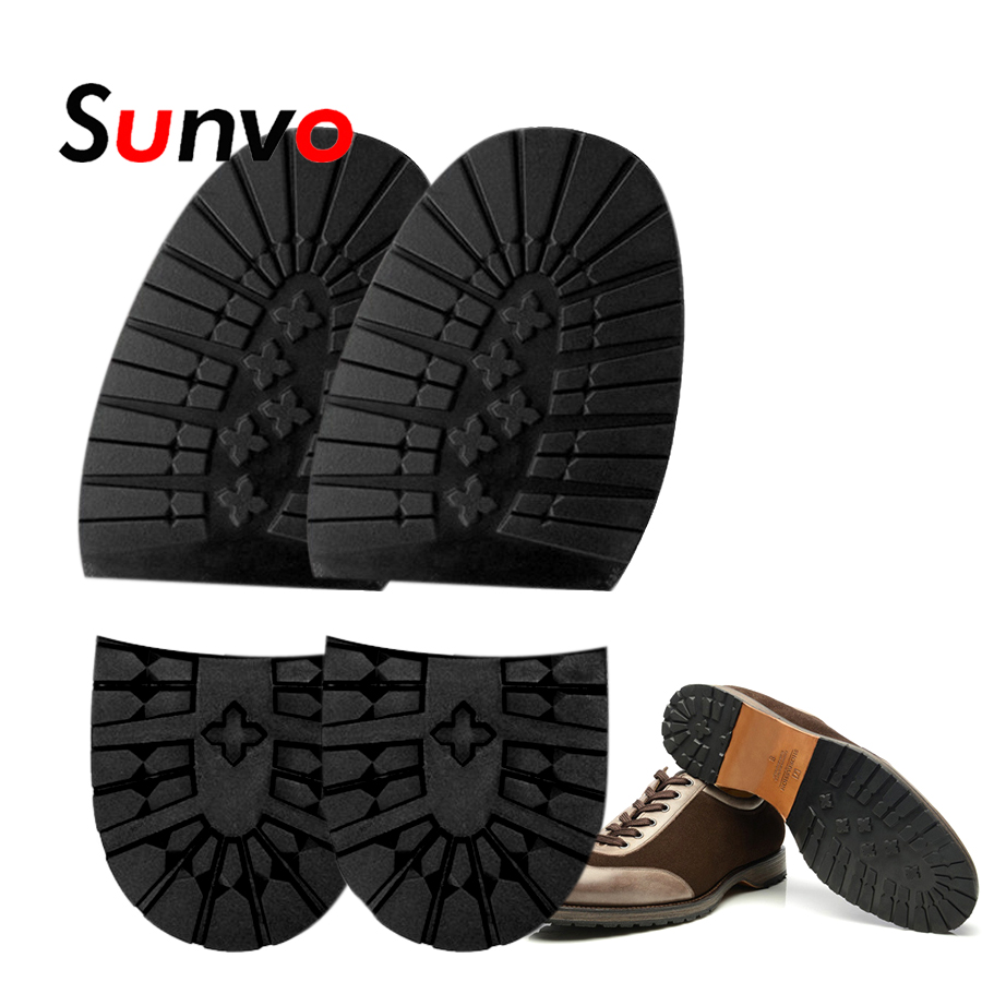 Rubber Shoes Outsoles Wear Resistant Non-slips Grip Sole Pads For Men Leather Shoes DIY Replacement Rubber Shoe Sole Pad