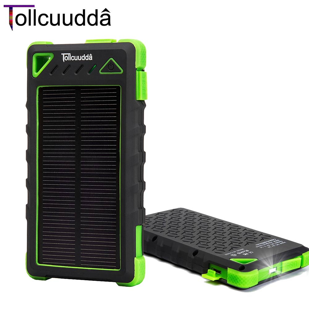 8000mAH External Solar Panel Charger Battery Mobil...