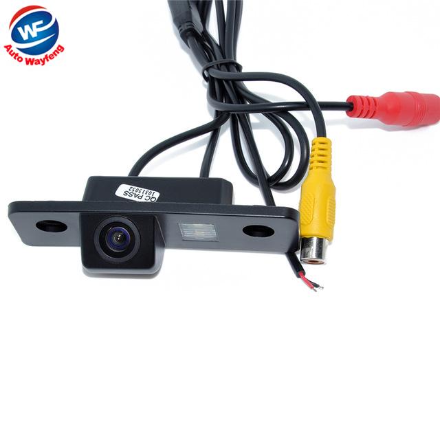 2015 Retrovisor Do Carro Câmera de visão Traseira de Backup Câmera CCD Wired HD de visão noturna carro câmera de estacionamento para VW Skoda Octavia à prova d' água