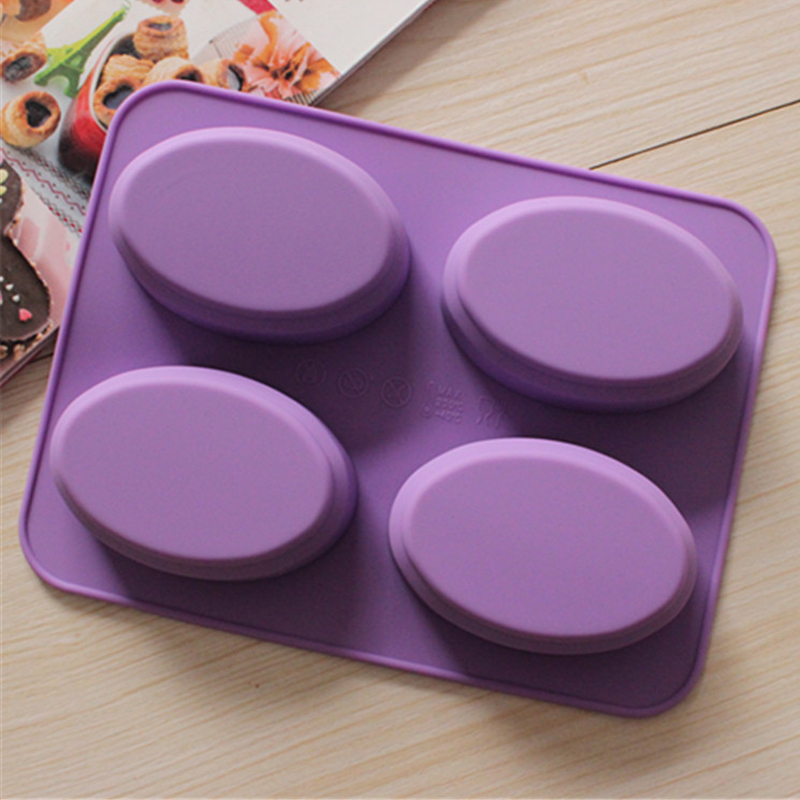 Candle Silicone Molds DIY Handmade Soap Art Handcraft 4 lattices Cake Mould Soaps Mold Baking Tools Soap Making Tools Tree Shape