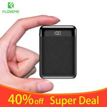 FLOVEME Mini 10000mAh Power Bank For iPhone Samsung Mobile Phone Charger Dual External Battery Pack Portable Powerbank