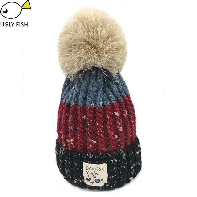 Chapéu do inverno pom pom chapéu gorro chapéus de inverno para as mulheres  forro de lã 9b68ec4a07d