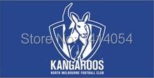 Kangaroos logo Flag 150X90CM AFL 3X5FT Banner 100D Polyester grommets custom009, free shipping