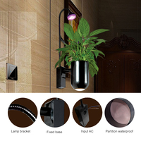 Zjright led 성장 빛 식물 성장 램프 산소 실내 꽃 침실 거실 발코니 호텔 장식 따뜻한 흰색 벽 램프