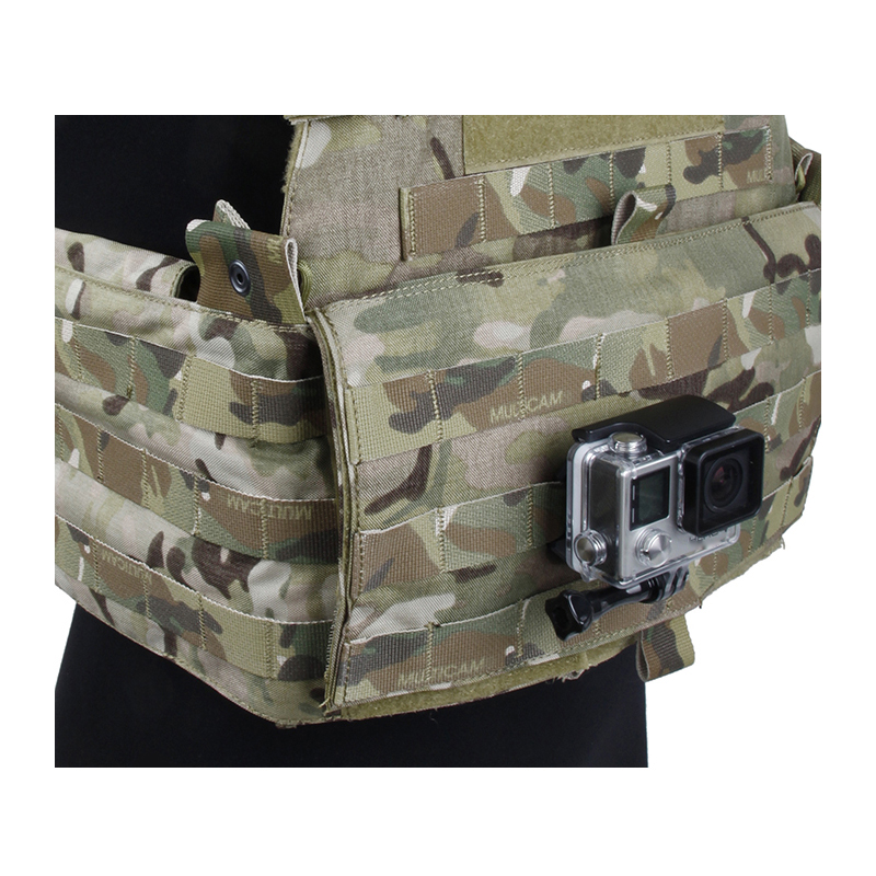 for Go Pro Accessories Tactical Vest CNC Plane Base Molle Connection Mount for GoPro Hero 7 6 5 4 3 Sjcam Xiaomi YI 4K EKEN Cam in Sports Camcorder Cases from Consumer Electronics
