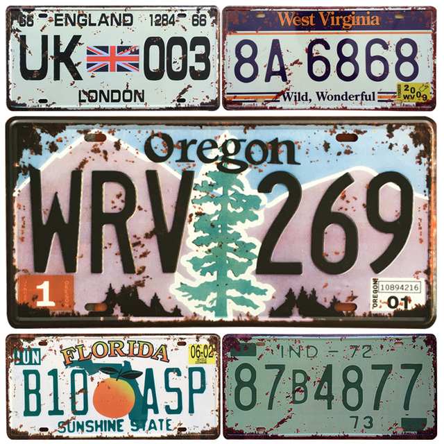 USA Oregon State Car Metal License Plate Vintage Home Decor Tin Sign ...
