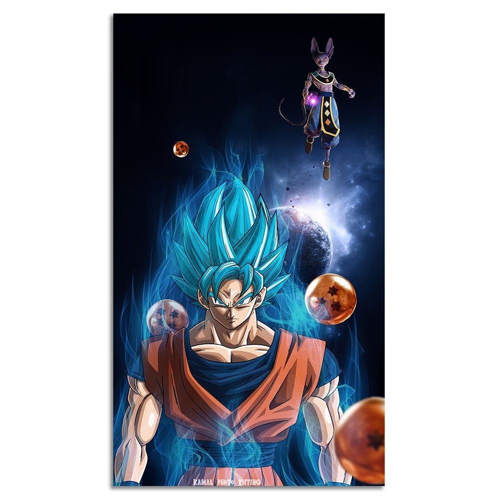 T-80 Dragon Ball Poster Hot Japan Anime Goku Super Saiyan Art Silk 30 24x36