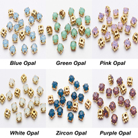 Wholesale Sew On Rhinestones White Blue Green Pink Opal Gold Claw 4mm 5mm 6mm Use For
