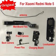 Оригинальная фронтальная большая задняя камера с зарядкой, материнская плата, гибкий кабель, громкоговоритель для Xiaomi Redmi Note 5 Note5
