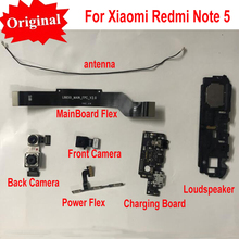 Orijinal Ön Büyük Arka arka Kamera Güç Şarj Ana kurulu Anakart Flex Kablo Hoparlör Xiaomi Redmi Için Not 5 Note5