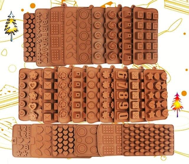 Mới Dẻo Silicone Khuôn Socola 3D Hình Chocolate Dụng Cụ nướng bánh Không dính khuôn bánh Silicone Sữa Ong Chúa và Kẹo Khuôn nóng bán TỰ LÀM tốt nhất