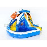 Children water park equipment inflatable water slide inflatable pool slide