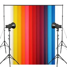 Beautiful Colorful Lines Photography Background Rainbow Backdrop Kids Photo Studio Wall 5x7ft