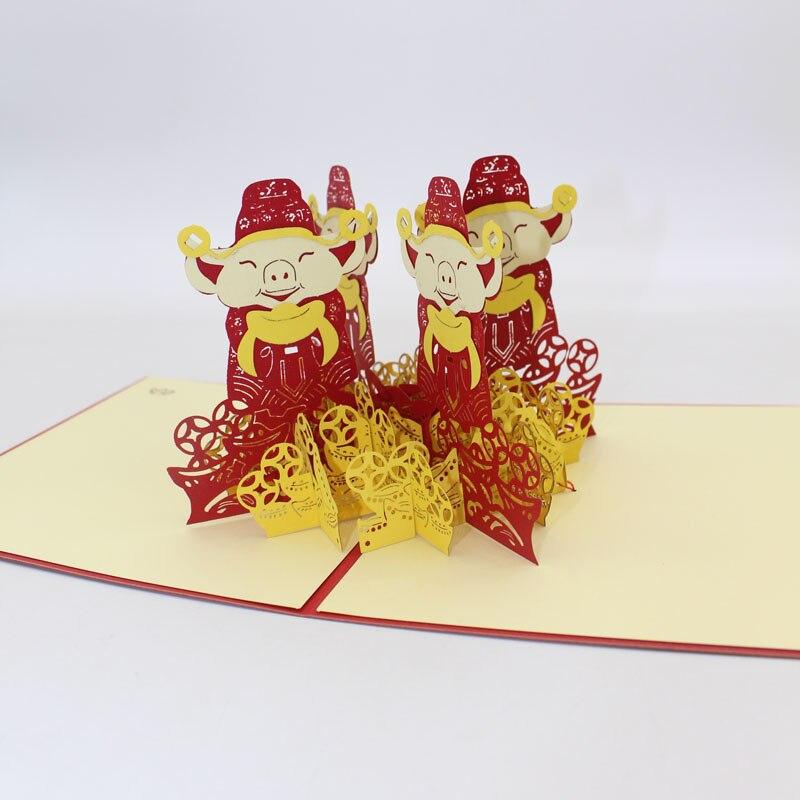 3D Handmade 2019 Chinese Zodiac Pig Spring Festival Paper ...
