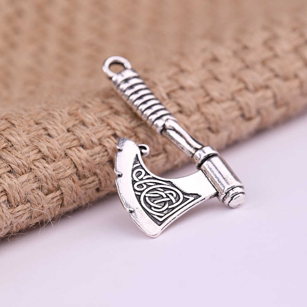 Dawapara Slavic Amulet จี้ Perun ขวานไวกิ้งขนาดใหญ่ Charms สำหรับเครื่องประดับทำ Chokers สร้อยคอผู้หญิง
