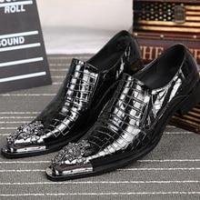 Italienische Mode Echtem Leder Männer Schuhe Spitz Leder Herren Kleid Schuhe Partei Geschäfts Oxfords für Männer Flache Schuhe