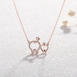 Image 2 - Hollow Heart Pig Pendant Necklace Cute Pig Animal Unique Charms gorgeous silver 925 jewelry Animal for Women Girl gift