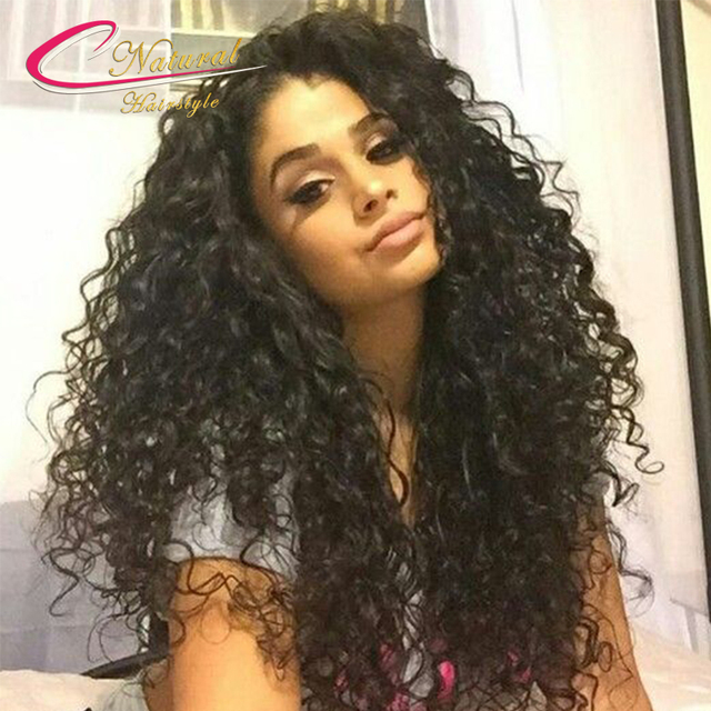 Thick 180% Curly Human Hair Full Lace Wig Brazilian Curly Virgin Hair Wet And Wavy Glueless Lace Front Wigs For Black Women