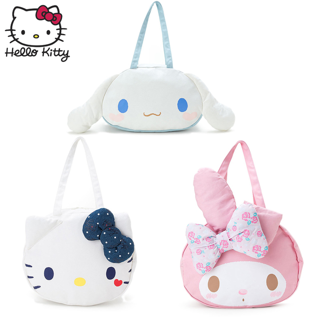 bb6590eb28 Kawaii Hello Kitty Lovely Bag Girls Hand Bags Fashion Women Single Shoulder  Shopping Big 3D Cartoon Plush Backpack Kids Gift
