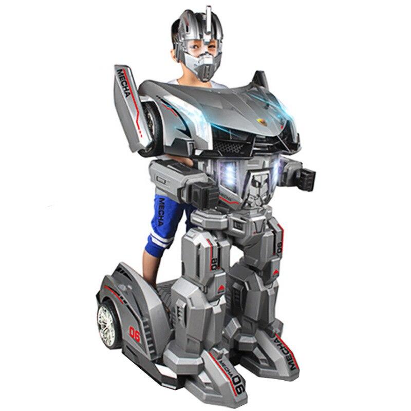 Carzy nouveau Robot jouet Ride Robot bébé chevaliers carré voiture fonction spéciale télécommande marche Robot jouets 30 kg Kid Robots