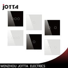 цена на Touch Switch Screen Crystal Glass Panel Switches EU Wall Light Switch 1 Gang 2Way For LED lamp Gold/Black/White