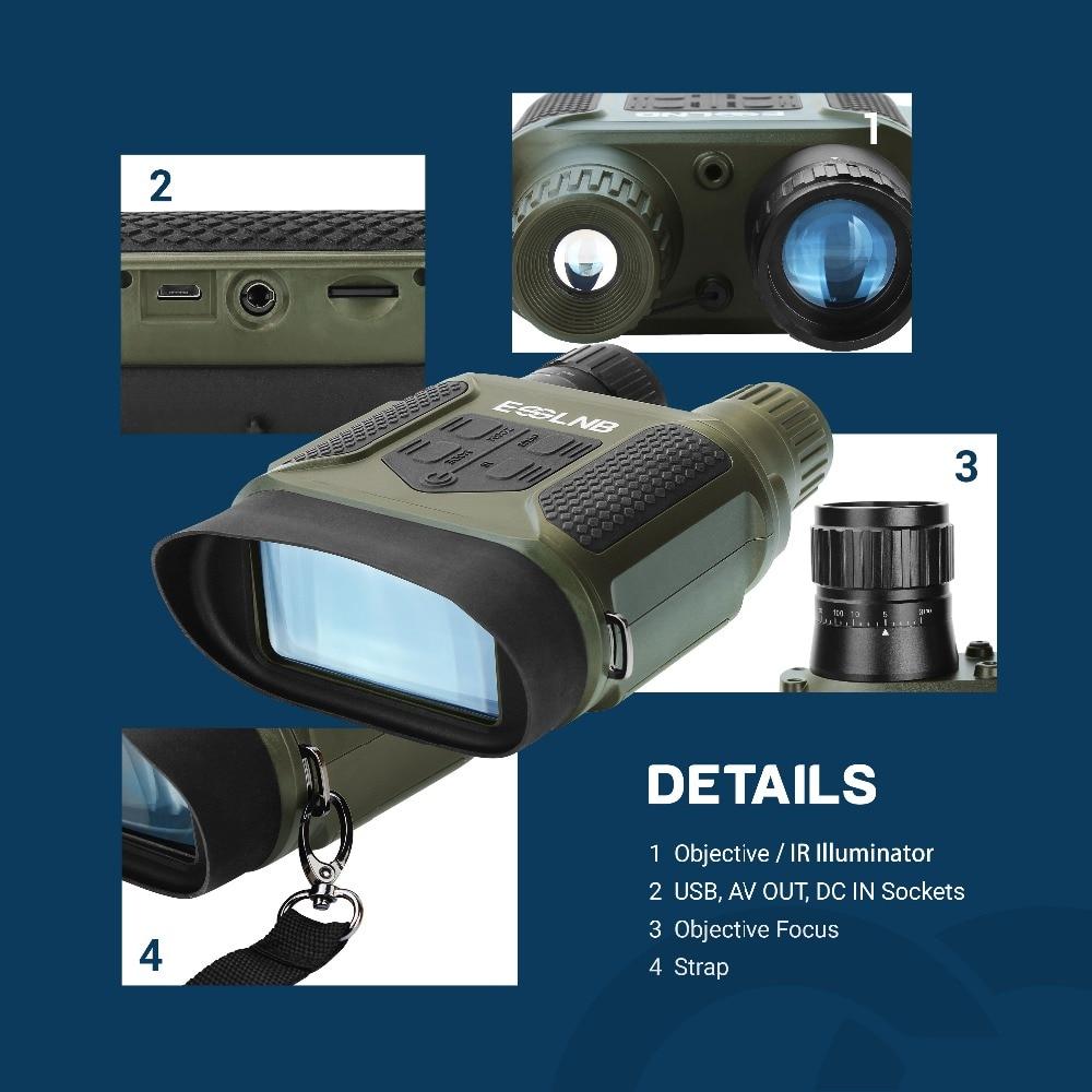 7x31 visão noturna binocular visão noturna infravermelha