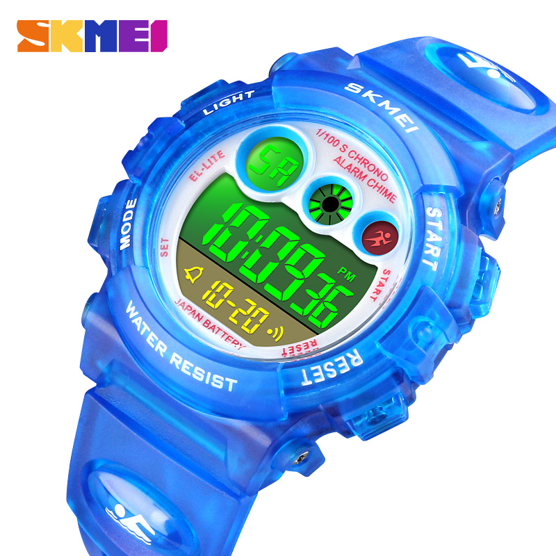 <font><b>SKMEI</b></font> Children Watch Boys Waterproof LED Digital Sports Watch Kids Alarm Date Watch for Children Girl Gift Reloj Deportivo <font><b>1451</b></font> image