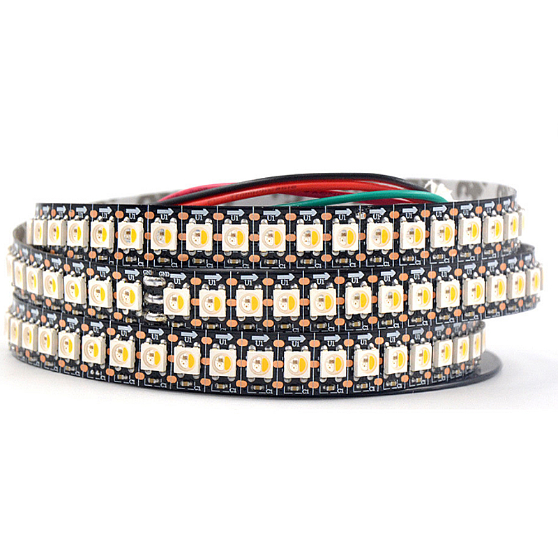 Addressable SK6812 MINI 5050 RGB RGBW <font><b>led</b></font> pixel strip <font><b>4mm</b></font>/5mm RGBNW RGBWW WWA 60LEDs/m 5V full color as WS2812B 1m 2m 5M image