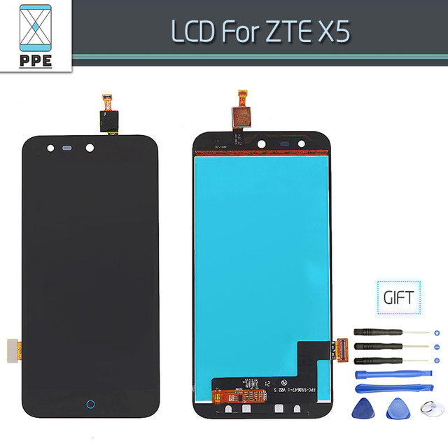 100% Original LCD Screen For ZTE Blade X5 / Blade D Phone LCD Display Touch screen Digitizer Assembly Replacement Free Tools