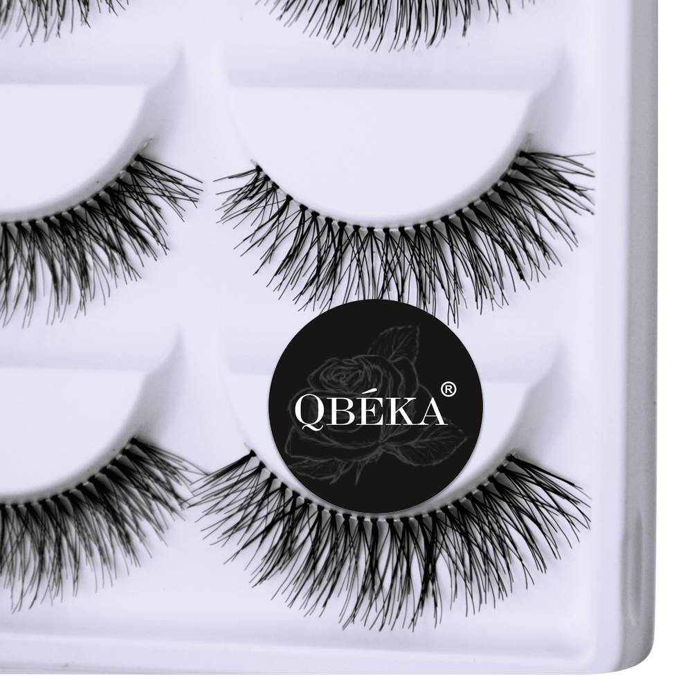 5 Pairs Natural Long False Eyelashes Hand Made Fake Eyelash Cilia Eye Lash Extensions Lengthening & Charming Faux Lashes A21