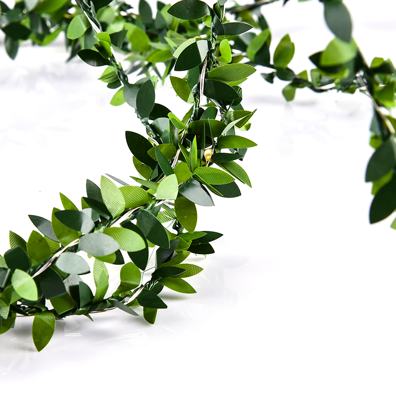 Waterproof 30 LED 3M Olive Leaf Light String Battery LED Garland Lighting  String For Outdood Garden Festival Wedding Decoration In Lighting Strings  From ...
