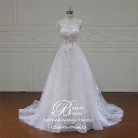 Beautybridal Винтаж свадебное платье 3D Цветочные аппликации суд поезд открытый трапециевидной формы Vestido de Noiva Свадебное платье XF16060