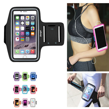 2018 New Running Bags Men Women Armbands Touch Screen Cell Phone Arms Band Phone Case Sports Accessories for 7 Plus Smartphone Сумка